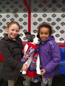 Mia, Pickle & Leila in the Dug Out