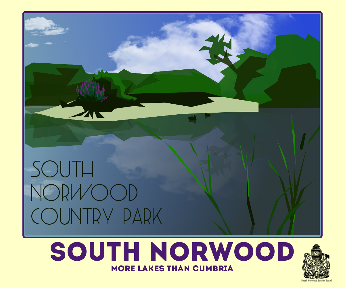 Limited Art Deco Style Prints Of London S Lake District Now Available To Buy At Treasures South Norwood Tourist Board